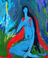 Blue Girl (Shubnum Gill) Tags: blue woman india art girl painting nude women asia delhi indian painter gill newdelhi 10faves artlibre shubnum superbmasterpiece jalalspagesartandcraftalbum shubnumgill wwwshubnumgillcom