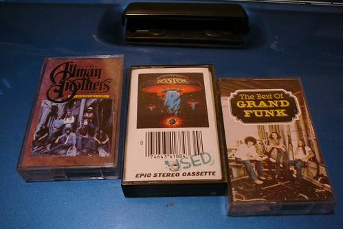 Allman Brothers, Boston, Grand Funk Cassettes