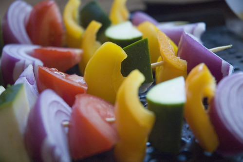 skewered veggies