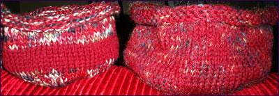 red bowls prefelting