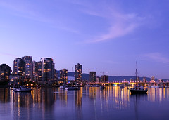 False Creek Night (Lloyd K. Barnes Photography) Tags: city sunset canada night vancouver bc yaletown falsecreek zd 1445mm supershot nd4 impressedbeauty lloydbarnes lloydkbarnes