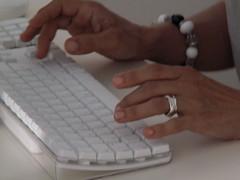 writing (William Nessuno) Tags: apple writing macintosh mac keyboard minolta osx intel konica 20 dimagez5