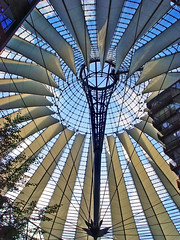 Sony Center (Tambako the Jaguar) Tags: city roof building berlin architecture modern germany sony centre frombelow impressive postdamerplatz photofaceoffwinner pfogold
