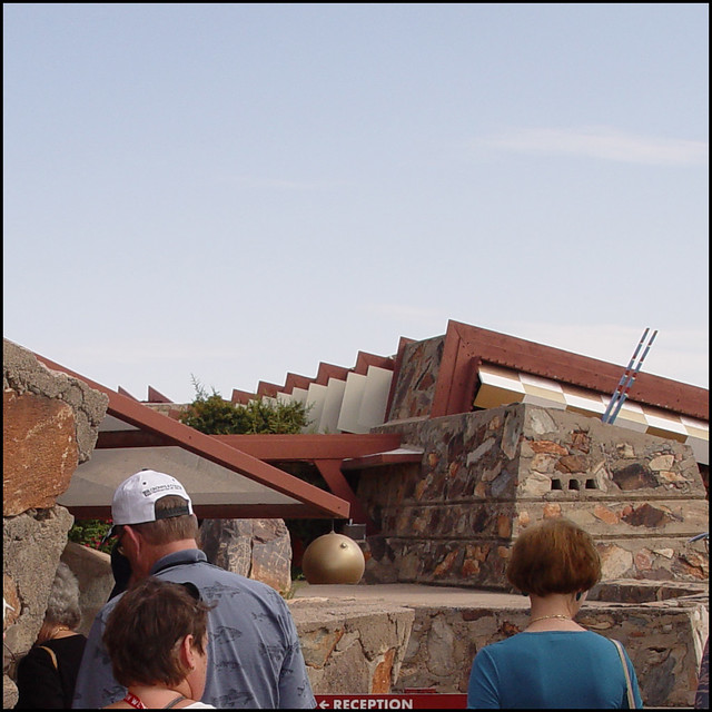 Taliesin West Tourists and Gold Sphere