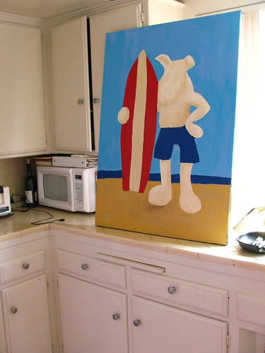 Surf Dog in progress
