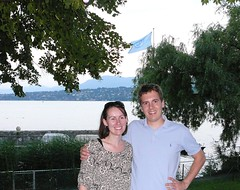 Claire and Dave in Geneva