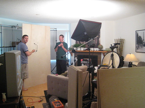 Ryan and Ferf, Working on the Set