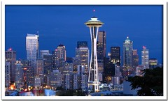 Seattle Skyline (Carplips) Tags: seattle skyline canon lights downtown spaceneedle seattleskyline canons2is aplusphoto