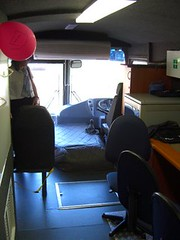 mobile library bus - driver seat