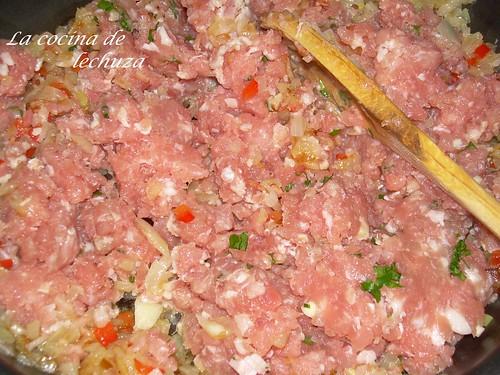 Mousaka sofrito carne