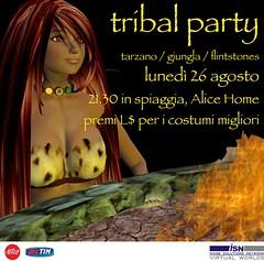 invite.jpg (Kaia Nishi) Tags: party beach alice tribal invitation jungle invite tarzan flintstones telco isn trib