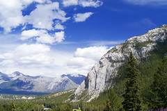 Fairmont Banff Springs Hotel View (seagr112) Tags: sky canada mountains alberta banff rockymountains viewpoint fairmont banffnationalpark banffspringshotel