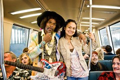 What's a mixr without some Jimi? (diyosa) Tags: sanfrancisco bart hendrix jimihendrix impersonator summeroflove sfmixr ritchierodgers httpritchierodgersisjimihendrixblogspotcom takenbycel