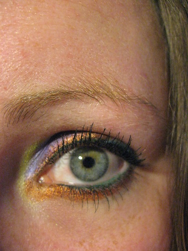 Eye make up, copper, green, purple, yellow eye make up designs