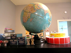 globe (Katey Nicosia) Tags: world house vintage studio globe map earth collection