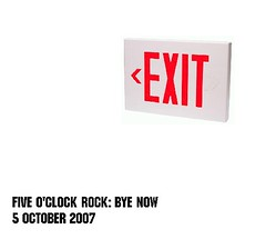 Five O'Clock Rock: Bye Now