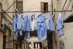 Shanghai (=Mirjam=) Tags: china travel blue color d50 vakantie blauw nikond50 clothes laundry abroad kleding reizen nikond300s