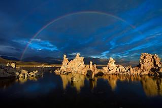Sunrise Rainbow, Mono Lake