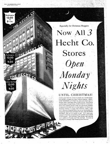 Hecht's Ad, Silver Spring Advertiser, Nov. 1952