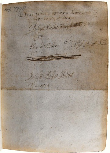 Front flyleaf with ownership inscription dated 1668.