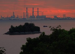 """progress"" approacheth (pranav_seth) Tags: sunset nature destruction pollution oil refinery globalwarming"