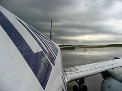 A320 at parking in Frankfurt (Lost in Transition) Tags: airplane frankfurt thunderstorm lufthansa a320 skyhigh flyinhigh lostintransition matthiasfranke marrymeflyforfree