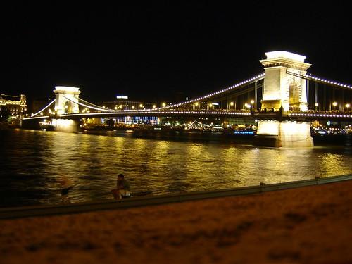 Chain Bridge, Budapest, Hungary.