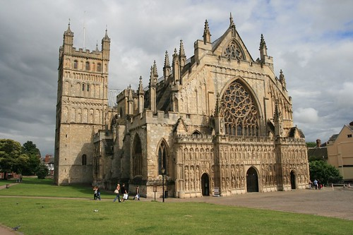 exeter cathedral: nw view