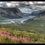 View over Rautas, Swedish Lappland