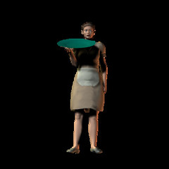 Waitress (hlplab) Tags: modern female waitress job