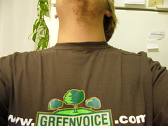 Greenvoice T-shirt back