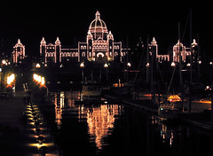 Victoria BC Parliament Building (redux) (rgdaniel) Tags: canada reflection night bc parliament victoria redux supershot interestingness210 i500 abigfave holidaysvacanzeurlaub