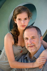 Father and daughter (jackie weisberg) Tags: family portrait people man men love girl fashion vertical loving pose sitting image father posing teen relationship photograph portraiture sit teenager relationships kin youngwoman fatheranddaughter middleage familial fatherdaughter middleaged middleagedman colorimage middleageman