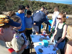 Beach cleanup day in Santa Cruz County
