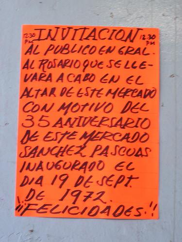 Invitacion, Fiesta de 35 Aniversario