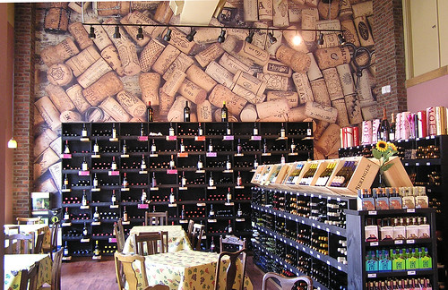 Hippo's Deli Wine Wall