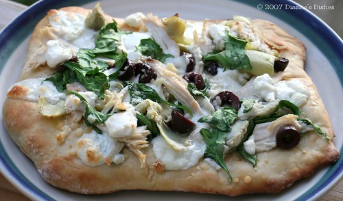 Chicken, Artichoke and Spinach Pizza