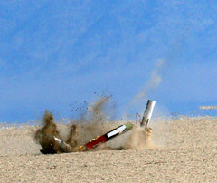 Dhooo (Erik Charlton) Tags: crash nv impact rocket rockets rocketry blackrock highpower dhoo balls16