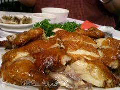 crisp skin chicken with salt