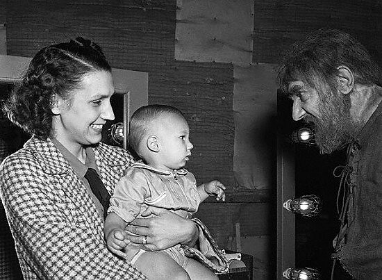 Bela Lugosi with wife and son