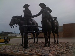 Exploring Oklahoma History: Binding Contract Statue