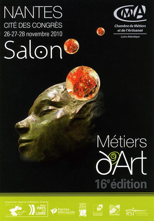 Flyer Salon des métiers d'art de Nantes - 2010