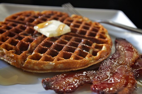 waffle butter bacon
