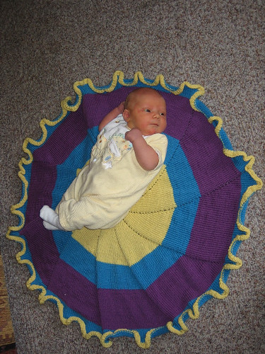 Baby on a pinwheel