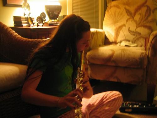 Mollie on Flute