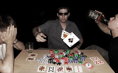 Royal Flush (Bobshaw) Tags: portrait gambling self cards texas royal multiplicity poker clones flush em gamble hold playingcards bobshaw