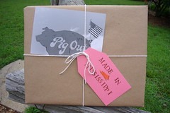 Etsy Package (Made in Mississippi) Tags: pink brown mississippi pig flag postcard tag photograph etsy package purchase madeinmississippi