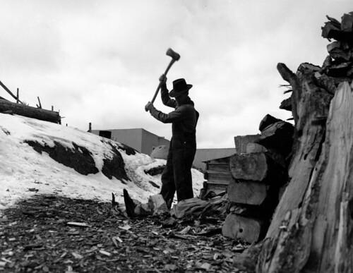Splitting Wood, photo by John Coller, Jr.