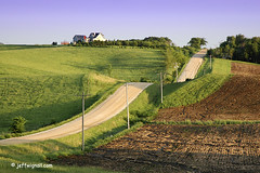 Iowa Farm Road, Rte 44 (Jeff Wignall) Tags: rural landscape d70s iowa farms roads desmoines wignall lateafternoonlight