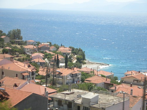 Small town on the Gulf of Corinth